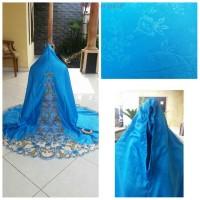 mukena janur punggung warna biru muda