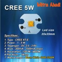 HPL CREE 5 Watt Warm White XT-E Diameter 16 mm
