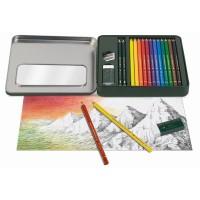 Faber-Castell Tin box Mixed media Polychromos & Castell 9000