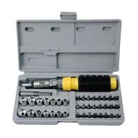 Tool Kit 41 In 1 Kunci Sock - Pas - SHOCK - Sok Obeng Alat Bengkel Set