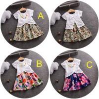 Mini Dress Flower White Baju anak bayi Import