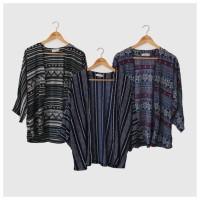 Kimono Outer Cardi Cardigan Wanita Lengan Panjang Tribal Etnik