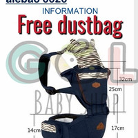 [GOL] GENDONGAN BAYI 4 IN 1 HIPSEAT BABY CARRIER AIEBAO 6626 ANIMAL