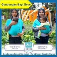 Gendongan Kaos Geos Instan 2 in 1 Baby Wrap Samping Depan Grey Izzati
