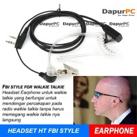 Earphone Gaya FBI Untuk Walkie Talkie Baofeng or HT Taffware Headset