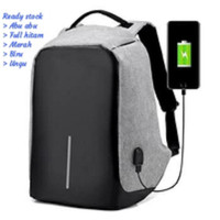 Tas Ransel USB port charger,Smart Backpack Anti Air Anti Malingthief