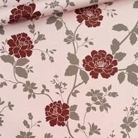Bunga mawar merah 45 cm x 10 mtr ~ Wallpaper sticker dinding