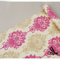 Batik vintage krem 45 cm x 10 mtr ~ Wallpaper dinding sticker