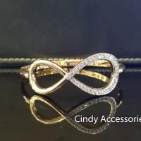 Gelang Bangle Simple Loops - Gold