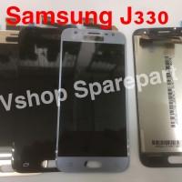 Lcd Touchscreen Samsung J330 J3 Pro 2017 Black Silver Gold - Biru Muda