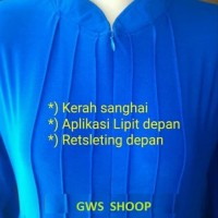 Gamis Jersey Super Polos Pakai Lipit (Allsize fit to XL)