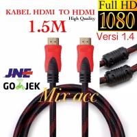 KABEL HDMI 1.5M SERAT JARING HDMI TO HDMI 1.5 m 1080P V1.4 3D HQ
