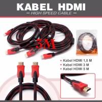 KABEL HDMI 3M SERAT JARING HDMI TO HDMI 3 m 1080P V1.4 3D HQ