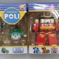 Mainan Cl kiddos robocar poli roy heli amber robot car