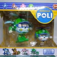 Hot Toys Robocar Poli 2 in 1 - Mainan Anak Robocar Helly dan Mobil