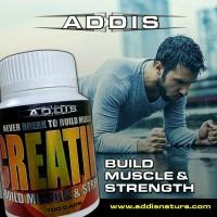 ADDIS Nature Creatine Build Muscle & Strength 100 Caps New Original