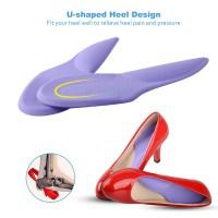 Insoles Gel Arch Alas Tumit Silikon Heel Pain Cushion Insole Terapi - Clear