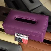 PREMIUM QUALITY TISSUE BOX Tempat Tisu Kulit Oscar Mobil Rumah Kantor - Ungu
