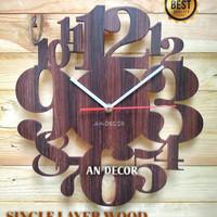 Jam Dinding Unik / JAM DINDING LAYERWOOD / WOOD WALL CLOCK