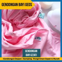 Gendongan Kaos Geos Instan 2 in 1 Baby Wrap Samping Depan Pink Izzati