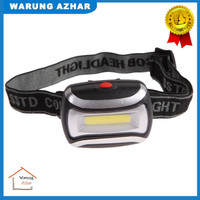 Senter Kepala / Headlamp Flashlight LED 3 Modes Black