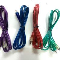Kabel RCA to Mini Stereo 2 - 1 Transparan Warna Warni