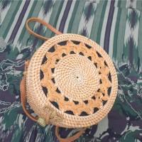 Tas Rotan Anyam satu sisi 20 cm | rattan bag asli lombok bali murah