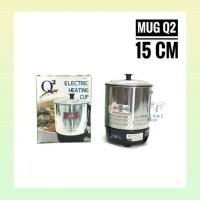 Teko listrik elektrik panci mug pemanas air makanan minuman Q2 15 cm