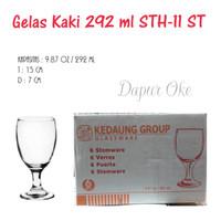 Kedaung Gelas Kaki Kaca STH-11 ST (6 pcs) / Gelas Tamu