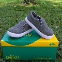Sepatu Anak Laki-Laki Model Slip On Abu Murah Trendy Casual Stylist - 21