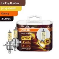Osram Lampu Kabut Mobil H4 Fog Breaker 12V 60/55W - 62193FBR - Kuning