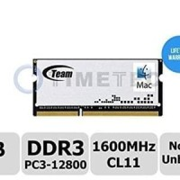 Update Memory Ram Laptop Team SODIMM DDR3 PC12800 8GB For Mac
