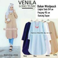 Baju Atasan Venila Long Tunic Blouse Blus Muslim