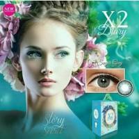 Softlens warna tahunan X2 Diary ready minus yearly baby eyes big eyes