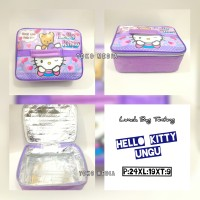Tas Bekal / Lunch Bag Anak Aluminium Foil Muat Yooyee HELLO KITTY UNGU