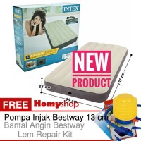 KASUR ANGIN INTEX  Durabeam Twin FREE P.Injak Bestway+Bantal KPL+Lem