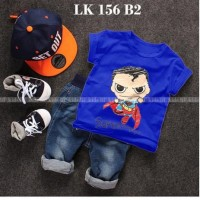 LK 156 B2 Superman - Setelan Anak - Jeans Sets Import