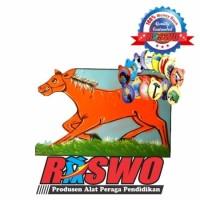 Alat Peraga Sekolah Papan Absen Kuda & Isi / Mainan Education Anak TK