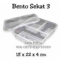 Bento Box Sekat/Lunch Box Bento Sekat/Kotak Makan Sekat/Bento Plastik