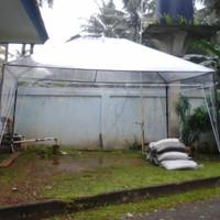 Tenda Cafe Green House uk 2x3 Atap Plastik Mika Bening