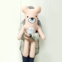 Boneka Emoticon Beruang Besar - Orso 7  Jumbo (tinggi 80-85cm)