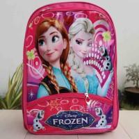 Jual Tas Gendong Anak Cewek Lucu imut motif Frozen Warna Pink Murah