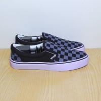 Sepatu Vans Slip On Checker Board Biru Premium Quality