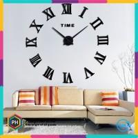 Jam Dinding Raksasa DIY 80-130cm Diameter - WLCS10070 - Black