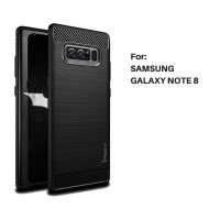 Case Ipaky Carbon Fiber SAMSUNG NOTE 8 Softcase Shockproof TPU