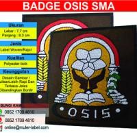 Osis SMA / Badge Seragam Osis SMA / Label Woven / Label Rajut