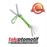 Kunci L Set Ballpoint Pendek 7 pcs 1.5-6 mm NANKAI / Kunci L Lipat