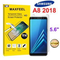 MAXFEEL Tempered Glass Samsung A8 2018 A82018 Clear Glass