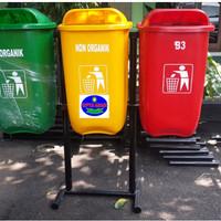 Tempat Sampah Fiberglass Organik non Organik, B3