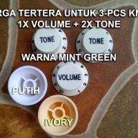 Mint Green Knob Set Volume Tone Control Potensio Knop Gitar Hijau Mint